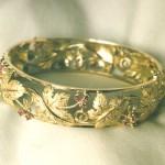 bracciale in oro giallo con rubini