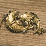 Collana in oro giallo e zaffiri